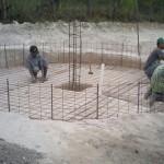 Construcción de un tanque de ferrocemento - Crespo y Asociados.